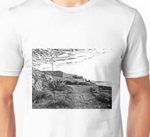 Island Caprera: military archeology and acacia Unisex T-Shirt