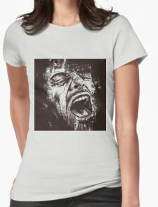 Scream Face Womens Fitted T-Shirt