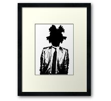 Jean Michel Basquiat SIL BLK Framed Print