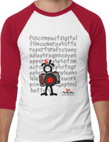 Red - The New Guy - funcompactdigitalcamera .. Men's Baseball ¾ T-Shirt