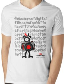 Red - The New Guy - funcompactdigitalcamera .. Mens V-Neck T-Shirt