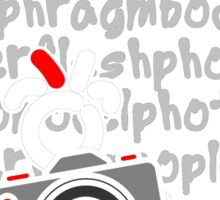 Red - The New Guy - funcompactdigitalcamera .. Sticker