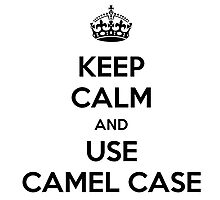 keep calm and use camel case Photographic Print