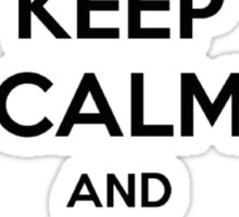 keep calm and use camel case Sticker