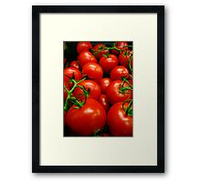 A Crop of Tomatoes  Framed Print