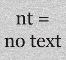 nt equals = no text by Andrew Ferguson