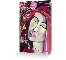 Red Thread Madonna Greeting Card