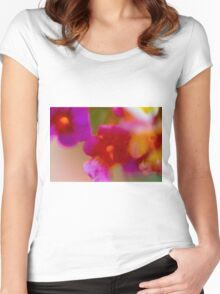defocused Abstract flower close up Women's Fitted Scoop T-Shirt