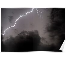 Lightning bolt during a lightning storm  Poster