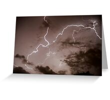 Lightning bolt during a lightning storm  Greeting Card