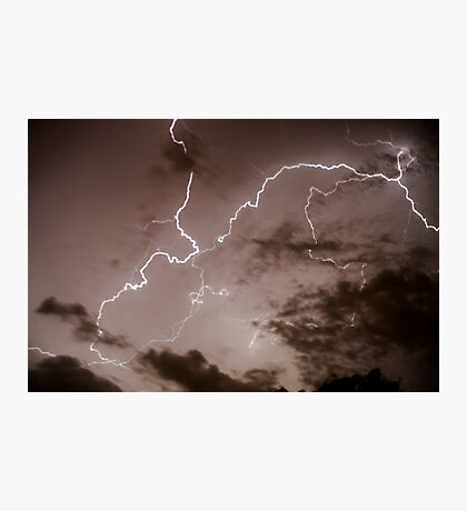Lightning bolt during a lightning storm  Photographic Print