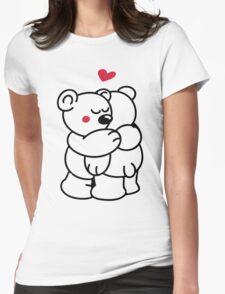 Teddys in love Womens Fitted T-Shirt