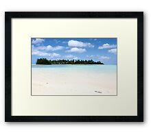 Cook islands, New Zealand, Framed Print