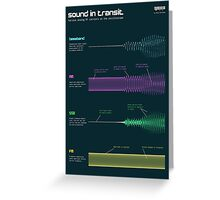 Sound in transit Greeting Card