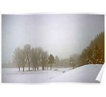 Foggy Morning Landscape (3) Poster