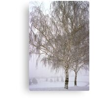 Foggy Morning Landscape (12) Canvas Print