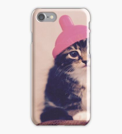 Cat With A Hat iPhone Case/Skin