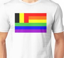 gay flag belgium Unisex T-Shirt