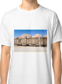 disused Hejaz Ottoman train in Jordan near Aqaba  Classic T-Shirt