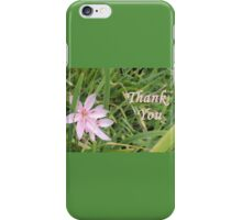 Pink Flower Thank You iPhone Case/Skin