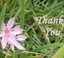Pink Flower Thank You by CreativeEm