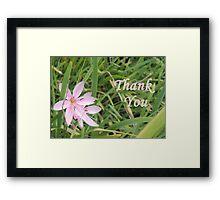 Pink Flower Thank You Framed Print