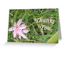 Pink Flower Thank You Greeting Card