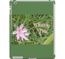 Pink Flower Thank You iPad Case/Skin