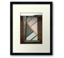 Icicles (3) - In Front of Architectural Design Off Red Brick Bldg. Framed Print