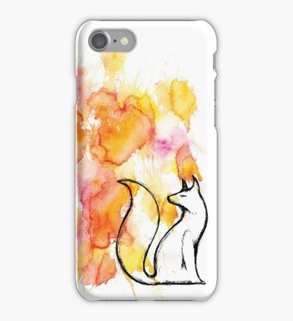 Fox Splatter iPhone Case/Skin