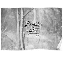 Winter Les Miserables Poster