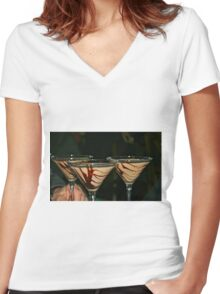 My Resolution.... Women's Fitted V-Neck T-Shirt