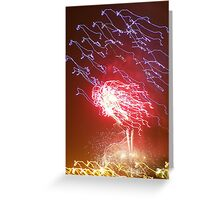 "Fireworks Ostrich ""Leader of the Pack"" Greeting Card"