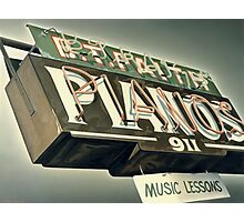 B.T.Faith Pianos Photographic Print