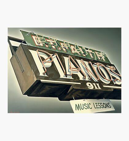 B.T.Faith Pianos Photographic Print