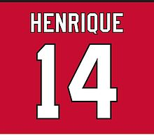 New Jersey Devils Adam Henrique Jersey Back Phone Case by Russ Jericho