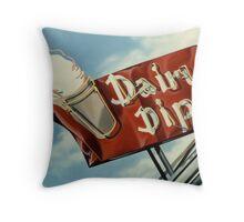 Dairy Dip Throw Pillow