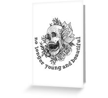 young and beautiful Greeting Card
