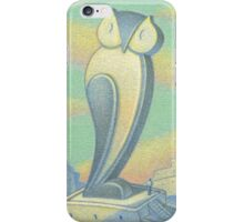 Archipenko visits his owl iPhone Case/Skin