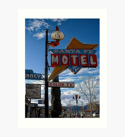 santa fe motel Art Print