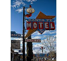 santa fe motel Photographic Print