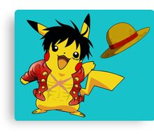 pika straw hat Canvas Print