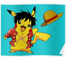 pika straw hat Poster
