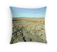 Burren landscape Throw Pillow