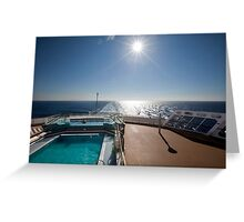 QM2 at sea Greeting Card