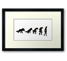 Wolf to Woman Framed Print