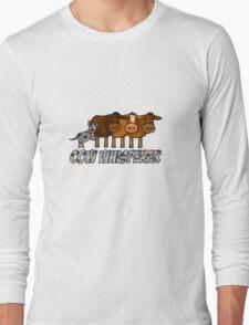cow whisperer (herding blue heeler) Long Sleeve T-Shirt
