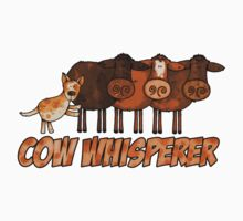 cow whisperer (herding red heeler) by Corrie Kuipers