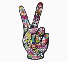 Peace Hippie Victory Fingers T-Shirt