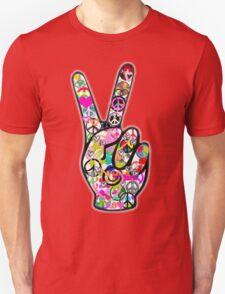 Peace Hippie Victory Fingers Unisex T-Shirt
